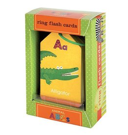 Chronicle Books Animal ABC's Ring Flash Cards