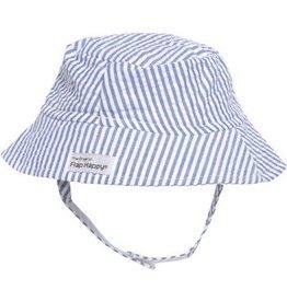 Flap Happy Crusher Hat - Blue Seersucker