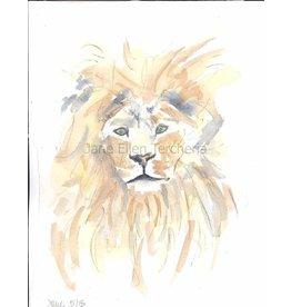 Jane Ellen Paintings Lion Print - 11x14