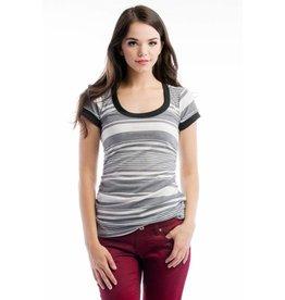Lilac Maternity Hailey Tee - Grey Stripe