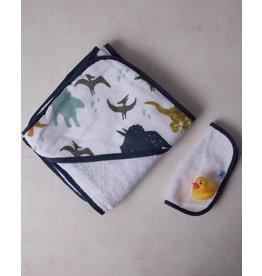 Little Unicorn Hooded Towel Set - Dino Friends