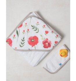 Little Unicorn Hooded Towel Set - Summer Poppy