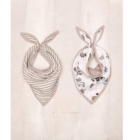 Little Unicorn Muslin Bandana Bib 2 Pack - Forest Friends