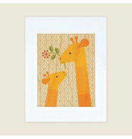 Petit Collage 11x14 Print - Giraffe Baby
