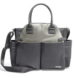 Skip Hop Chelsea Downtown Chic Satchel - Charcoal Shimmer