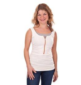 Molly Ades Zip-Nursing Tank - Ivory