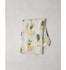 Little Unicorn Bamboo Swaddle - Pineapples