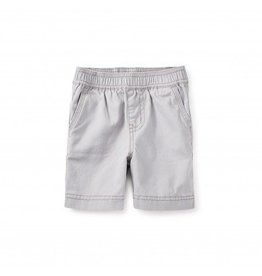Tea Collection Easy Does It Twill Baby Shorts - Grey