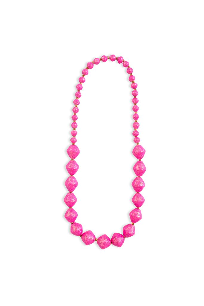 31 Bits Bitsies Necklace - Pink Glitter