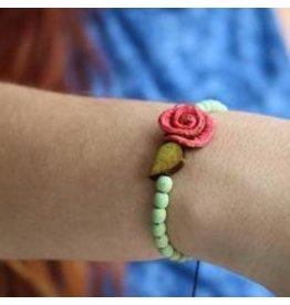 Calamarie Calamarie Orange Peel & Seed Bracelet - Mint/Coral Rose