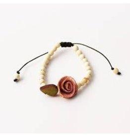 Calamarie Calamarie Orange Peel & Seed Bracelet - Natural/Soft Pink Rose