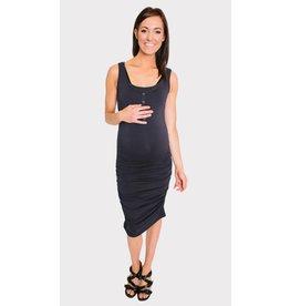 NOM Maternity Snap Tank Dress - Navy