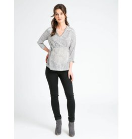 JoJo Maman Bebe Maternity The Perfect Blouse - Black & White Dot
