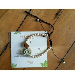 Calamarie Calamarie Orange Peel & Seed Bracelet - Natural/Sky Blue Rose