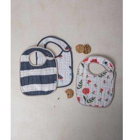 Little Unicorn Classic Muslin Bib 3 Pack - Summer Poppy