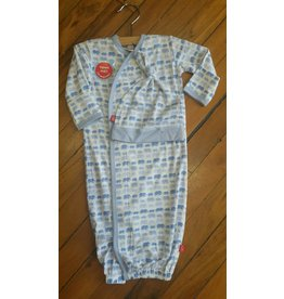 Magnificent Baby Magnetic Modal Gown - Soft Blue Elephants