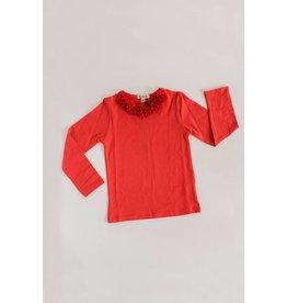 E.M.C. Chiffon Collar Tee - Ruby