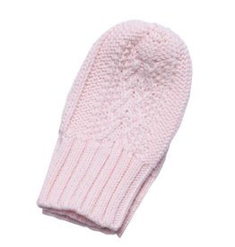 Angel Dear Cable Knit MIttens (0-24M) - Pink