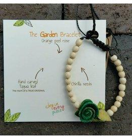 Calamarie Calamarie Orange Peel & Seed Bracelet - Natural/Dark Green Rose