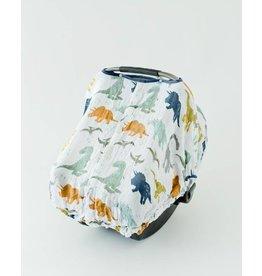 Little Unicorn Muslin Car Seat Canopy - Dino