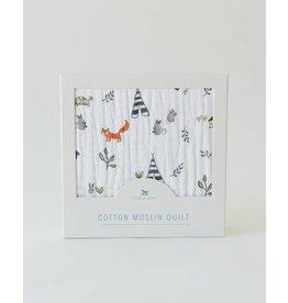 Little Unicorn Cotton Quilt - Forest Friends
