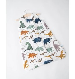Little Unicorn Muslin Sleep Bag - Dino Friends
