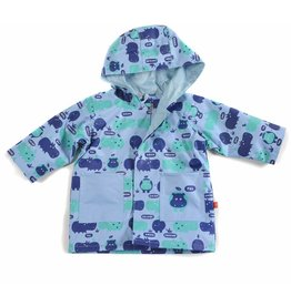 Magnificent Baby Magnetic Me Raincoat - Hippo Friends (Blue)