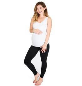 NOM Maternity Seamless Reversible Tank - White