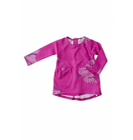 Art & Eden Fuschia Sparrow Baby T-Shirt Dress & Short Set