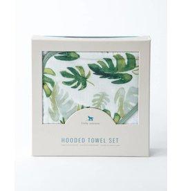 Little Unicorn Hooded Towel Set - Tropical Leaf
