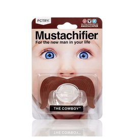 FCTRY Mustachifier Pacifier - Cowboy