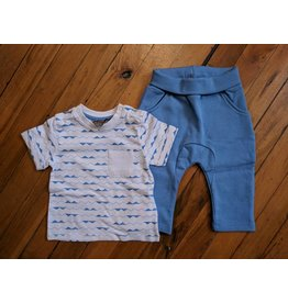 Kanz Abstract Waves Pocket Tee & Jogger Set