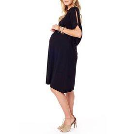 8b7e924851 Ingrid   Isabel Maternity Split Kimono Sleeve Midi Dress - Jet Black