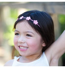 Peppercorn Kids Glitter Flower Crown Headband - Summer Coral