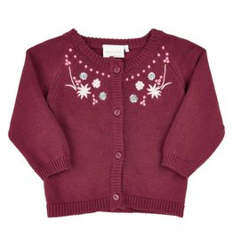 Minymo Organic Cotton Cardigan-Fresh Plum