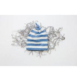 Pinewood Organic Pinewood Organic Hat - Cornflower Blue Wide Stripe