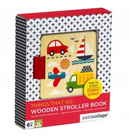 Petit Collage Wooden Stroller Book - Things That Go!