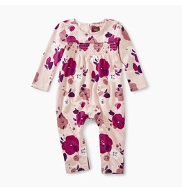 Tea Collection Rosada Pop Smocked Romper