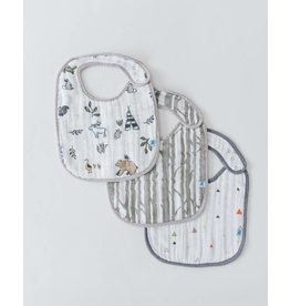 Little Unicorn Classic Muslin Bib 3 Pack - Forest Friends