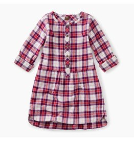 Tea Collection Classic Plaid Flannel Shirt Dress