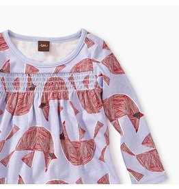 Tea Collection Cardinal Bird Smocked Baby Dress