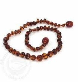Momma Goose Momma Goose Teething Necklace Baroque light Cherry m