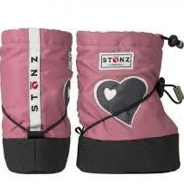 Stonz Stonz booties heart dusty pink L