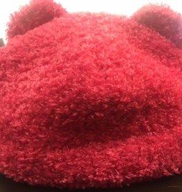 Puffin Gear Puffin Gear hat teddy bear  dark pink 12-24 m