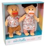 Manhattan Toy Wee Baby Stella Twins Beige with Brown Hair