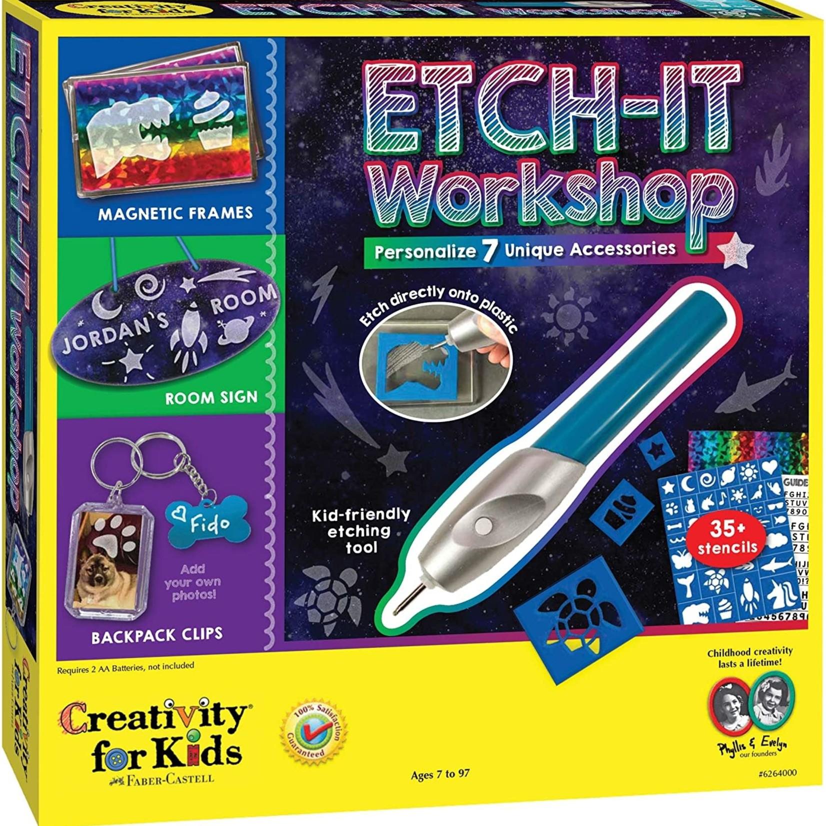 Creativity For Kids Etch It Workshop