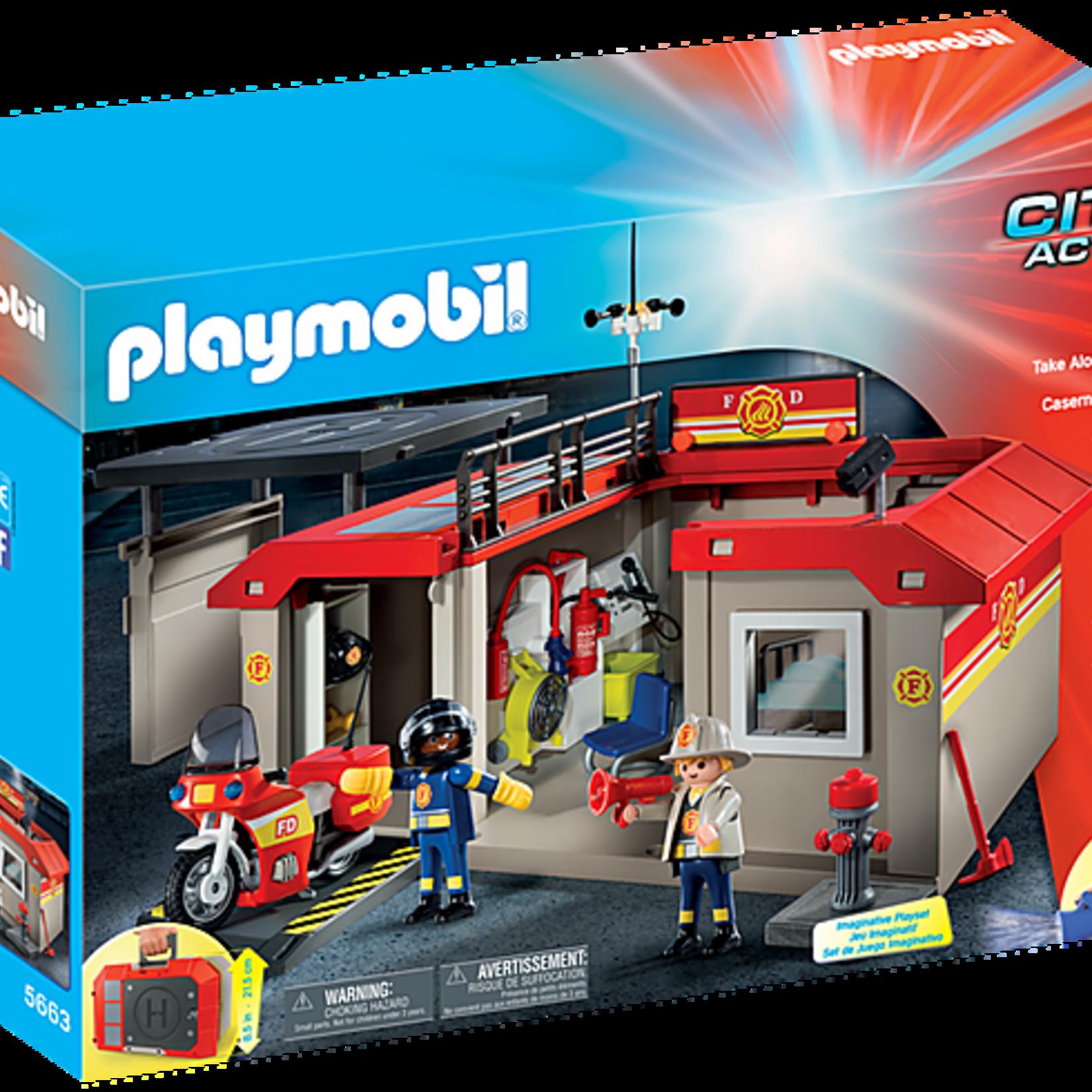 Playmobil Take Along Fire Station - Playmobil 5663