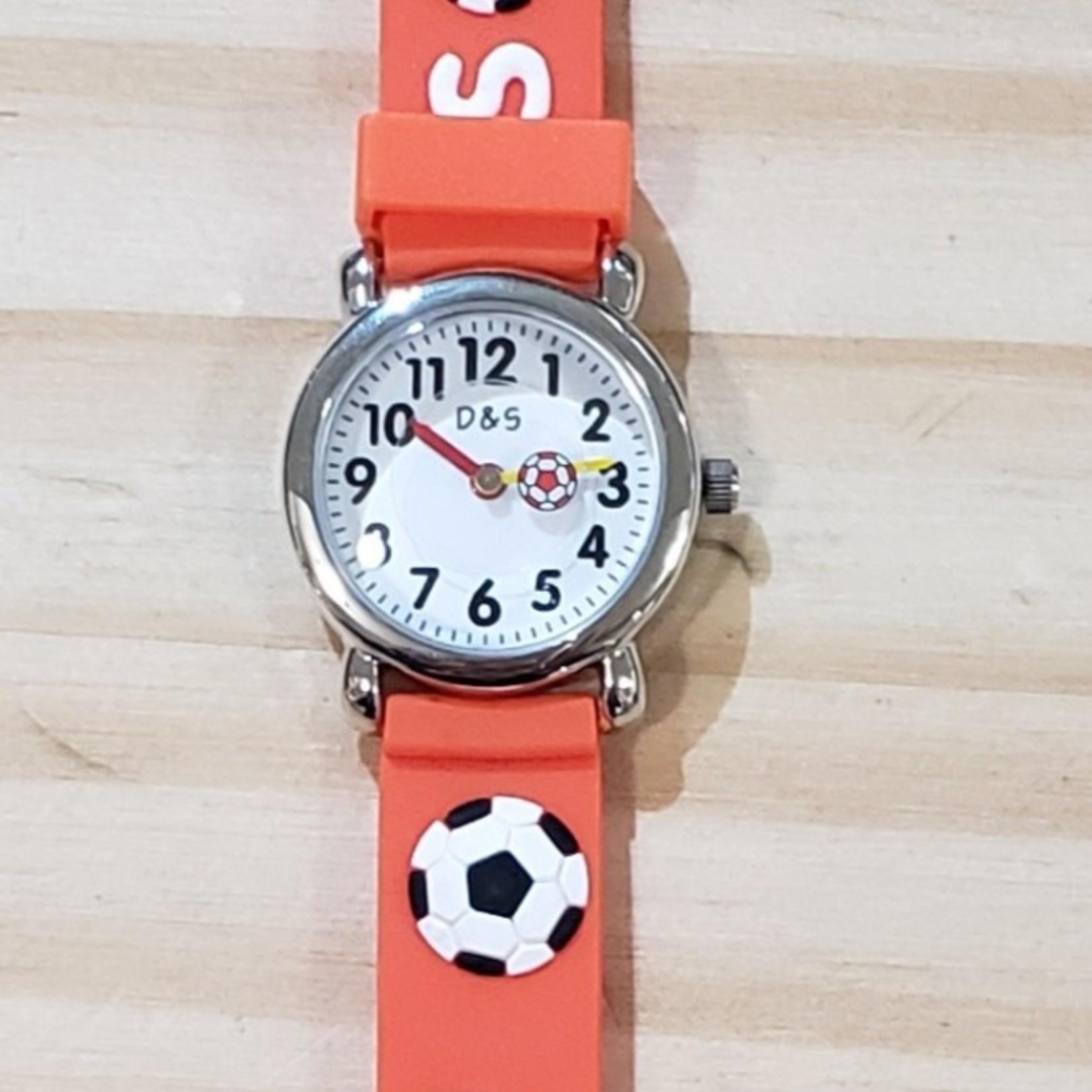 D&S Imports Watch - Soccer, Orange