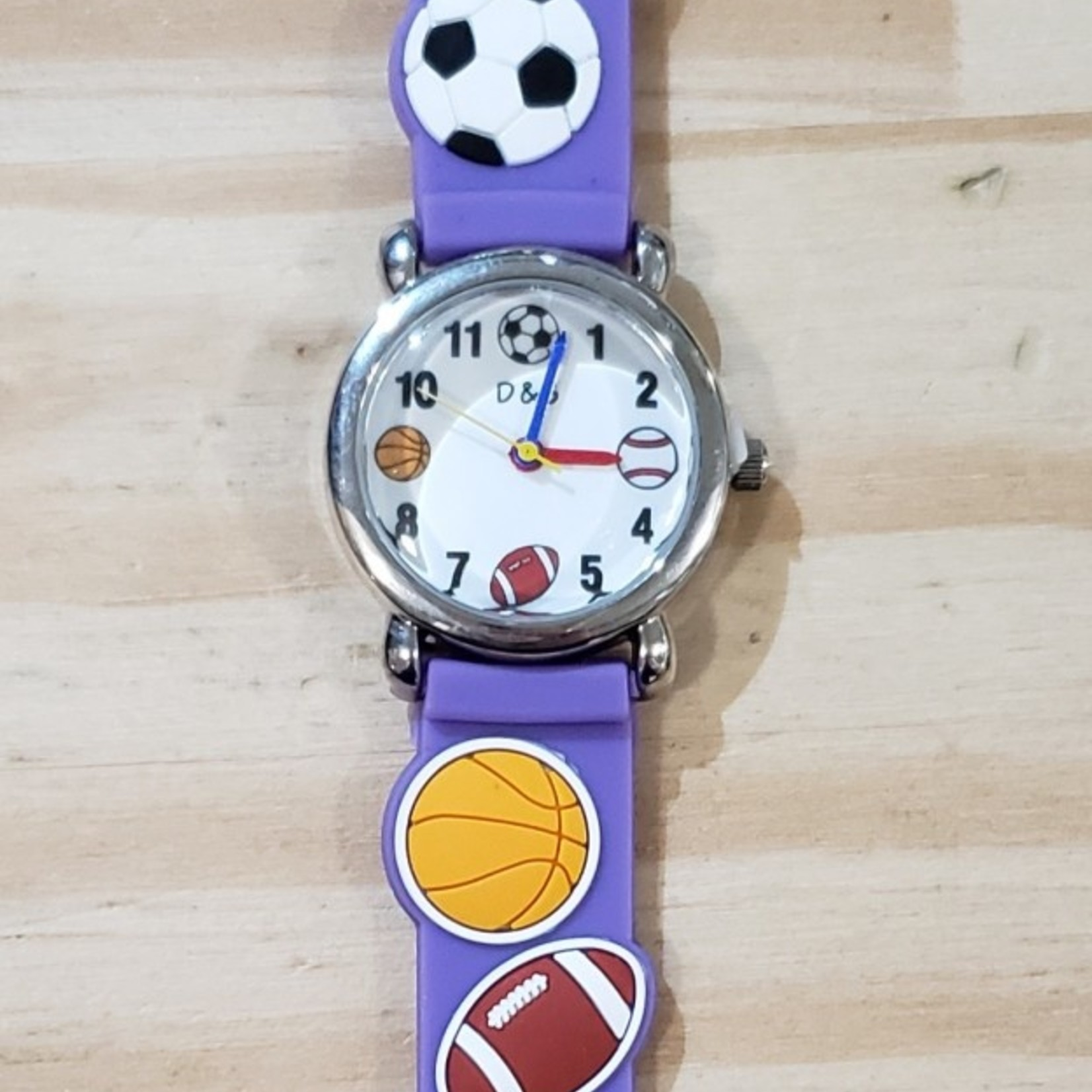 D&S Imports Watch - Play Ball, Purple