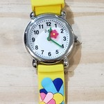 D&S Imports Watch - Flowers, Yellow